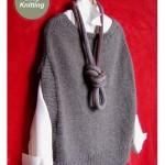 maddy laine Knitting Pattern - ML164 Flatter Me Vest